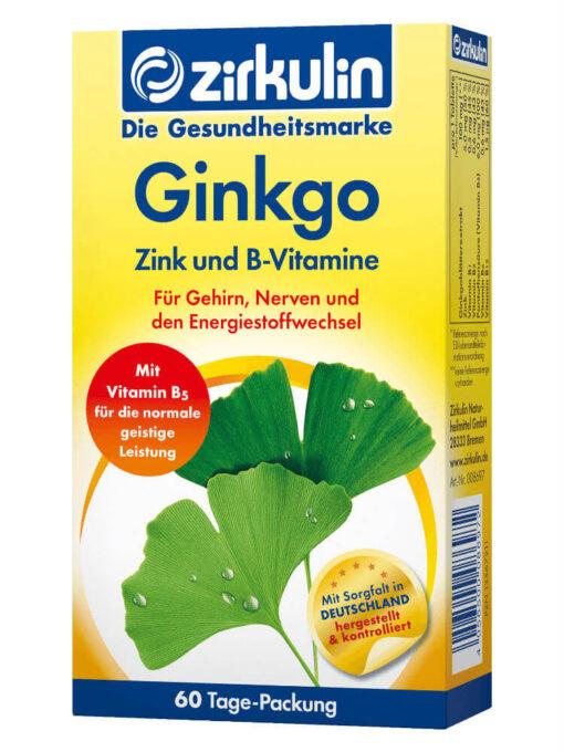 Thuốc bổ não Zirkulin Ginkgo, 60 viên
