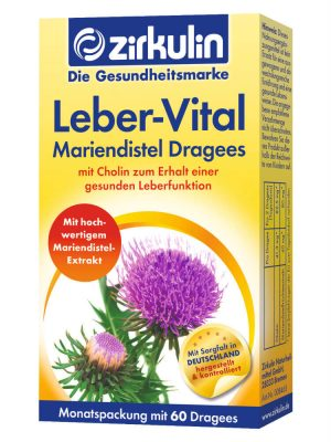 Thuốc Bổ Gan Zirkulin Leber Vital Mariendistel Dragees, 60 viên