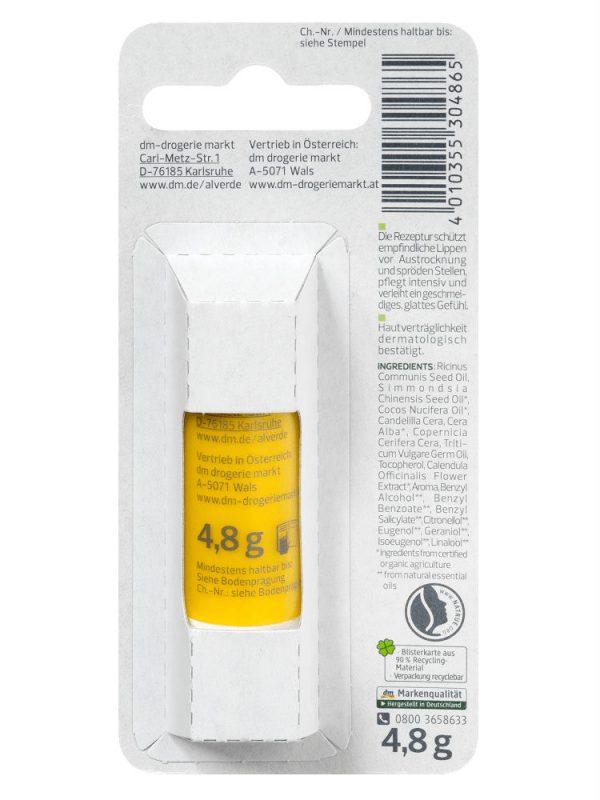 Son dưỡng môi Alverde tinh chất hoa cúc, 4,8 g
