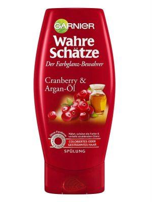 Dầu Xả Garnier Wahre Schatze Tinh Dầu Argen Và Quả Cranberry Cho Tóc Nhuộm, 250 ml