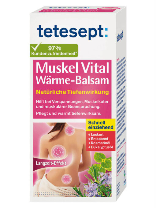 Gel xoa bóp tetesept Muskel Vital Warme balsam, 100 g