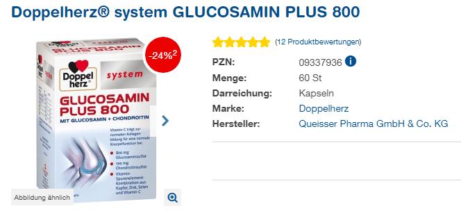 Đánh giá thuốc bổ xương khớp Doppelherz System Glucosamin Plus 800