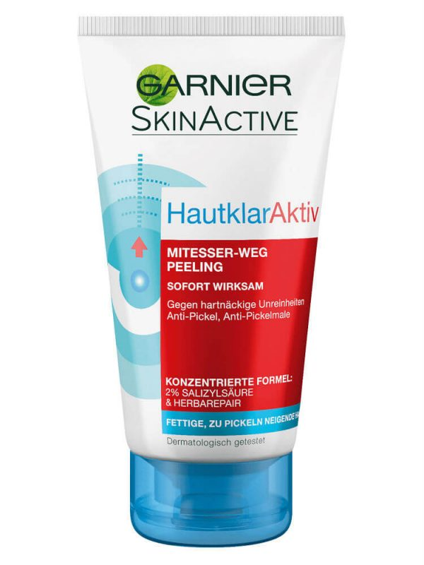 Tẩy Tế Bào Chết Garnier Hautklar Aktiv Mitesser Weg Peeling 150ml