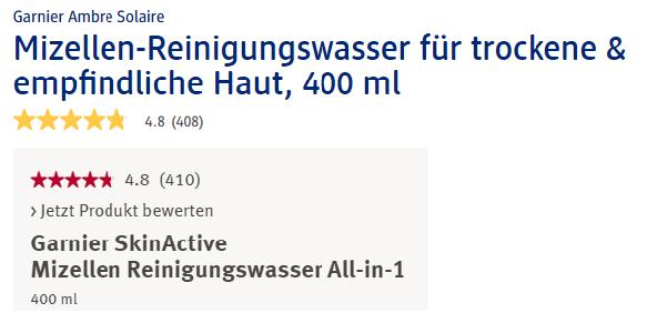 Nước tẩy trang Garnier SkinActive Mizellen Reinigungswasser All in 1,400ml