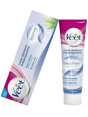 Kem tẩy lông Veet Silk & Fresh Cho Da Nhạy Cảm, 100 ml