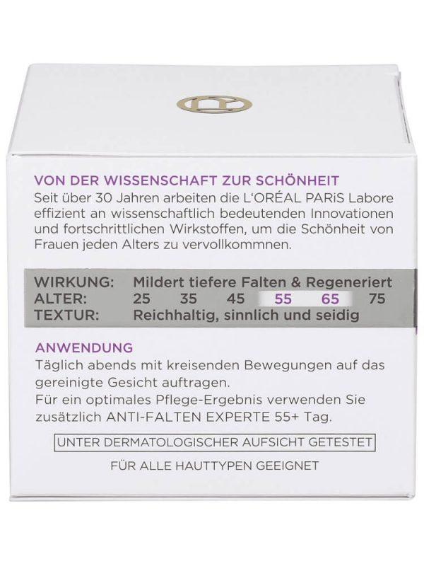 Kem dưỡng da Loreal Anti Falten Experte 55+ Nachtcreme, 50 ml