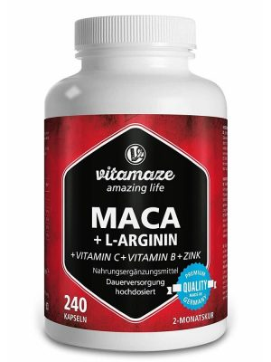 Thuốc tăng cường sinh lý Vitamaze Maca + L-Arginine + Vitamins + Zinc, 240 viên