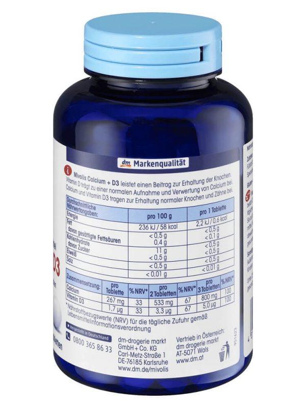 Viên uống Mivolis Calcium D3, 300 viên