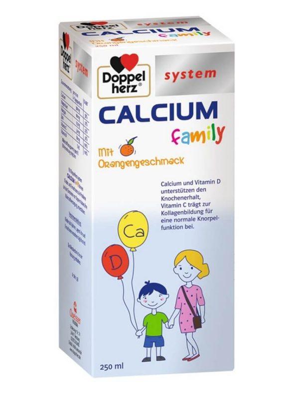 Siro Canxi Doppelherz System Calcium Family, 250 ml