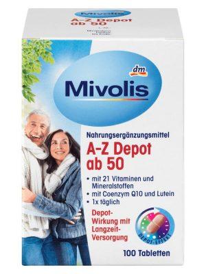 Vitamin Tổng Hợp Mivolis A Z Depot ab 50, 100 Viên
