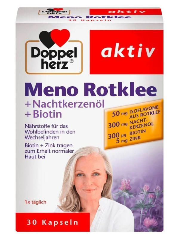 Viên uống cân bằng nội tiết tố Doppelherz Meno Rotklee, 30 viên