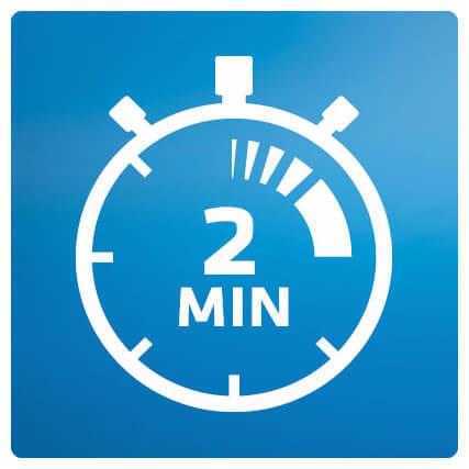 Chế độ đánh 2 phút của bàn chải điện Oral-B