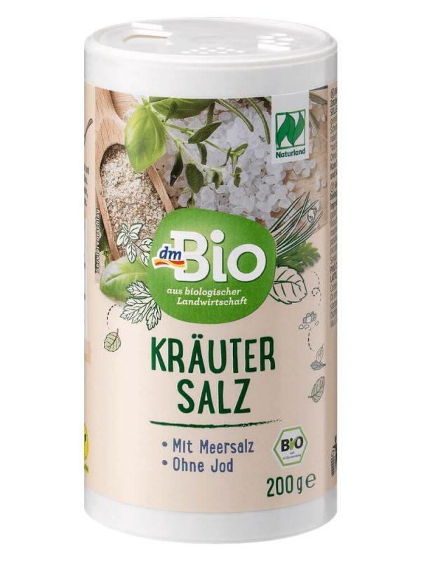 Muối không iot dmBio krautersalz thảo dược hữu cơ