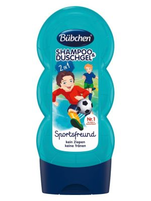 sữa tắm gội Bubchen kids shampoo duschgel sport, 230 ml