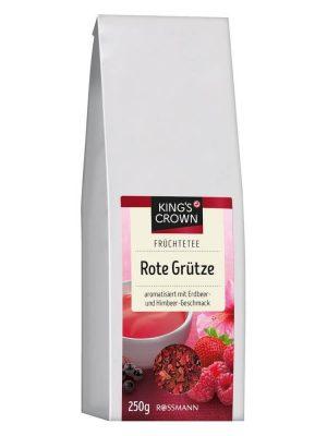 Trà hoa quả khô King's Crown Rote Grutze hương vị dâu tây và quả mâm xôi, 250g