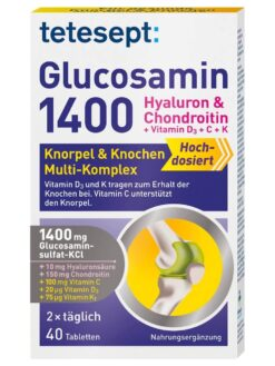 Thuốc bổ khớp Tetesept Glucosamin 1400, 40st