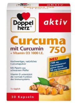 Viên tinh bột nghệ Doppelherz Curcuma 750, 30 viên