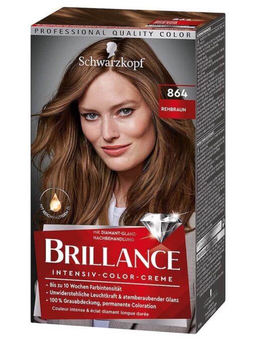 Thuốc Nhuộm Tóc Brillance Intensiv Color Creme 864 Nâu Đỏ